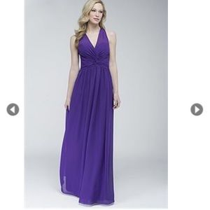 WTOO Bridesmaid Dress Chiffon Crisscross Back NWT